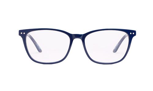 Lentes ópticos: Gianni Po 2608 Azul Remaches decorativos al frente | Varillas metálicas con Anti-Derrapante | Varilla Flex
