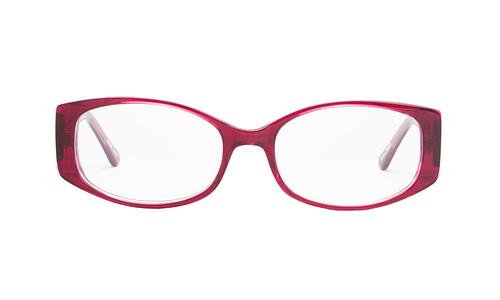 Lentes ópticos: Gianni Po 2596 Vino Líneas gruesas | Incrustaciones de pedrería | Varilla Flex