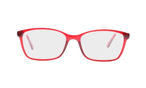 Lentes ópticos: Academic P8020 Rojo Ligero | Color rojo | Varillas finas y delgadas