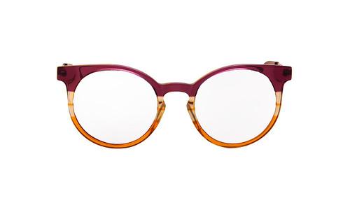 Lentes ópticos: Vespa Óptico 1201 Morado / Naranja Micas espejeadas   Protección UV   Filtro Grado 3   Hecho de Acetato y Metal