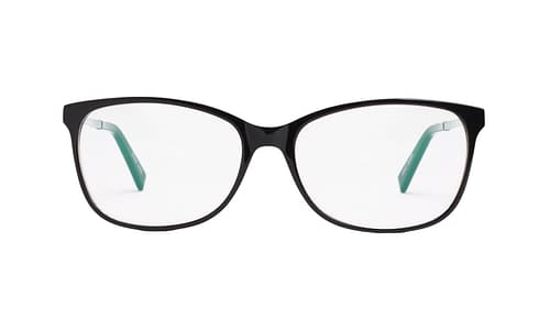 Lentes ópticos: Gianni Po 2598 Negro Varillas de metal con anti-derrapante | Frente de acetato | Varilla flex