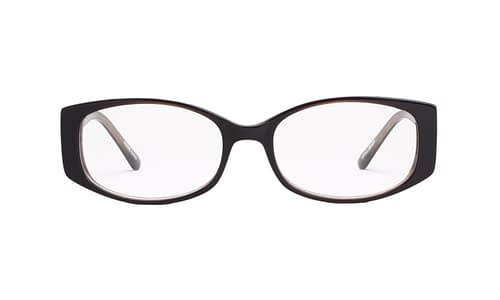 Lentes ópticos: Gianni Po 2596 Negro Líneas gruesas | Incrustaciones de pedrería | Varilla Flex