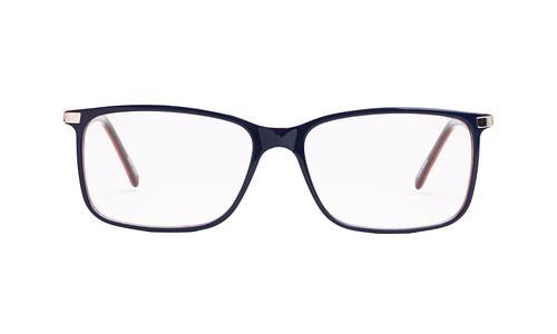 Lentes ópticos: Gianni Po 2599 Azul Varillas de metal con anti-derrapante | Frente de acetato | Varilla flex