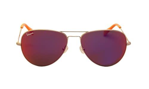 Lentes de sol: Vespa Solar 12IS Morado / Naranja Protección UV | Filtro Grado 3 | Mica espejeada color morado