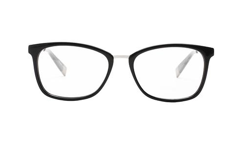 Lentes ópticos: Gianni Po 2636 Negro Líneas delgadas   Ligero   Combinación de Metal y Acetato