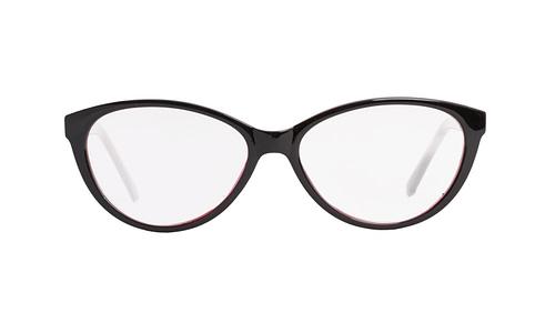 Lentes ópticos: Academic P9024 Negro / Rosa Ligero | Color negro y morado | Varillas decoradas