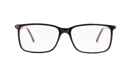 Lentes ópticos: Gianni Po 2599 Negro Varillas de metal con anti-derrapante | Frente de acetato | Varilla flex