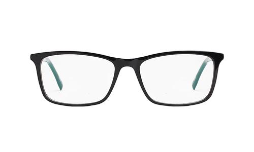 Lentes ópticos: Gianni Po 2603 Negro Ligero | Varilla Flex | Detalle decorativo metálico en la varilla