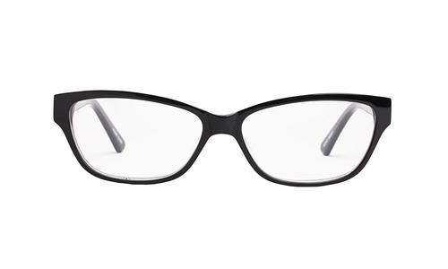 Lentes ópticos: Gianni Po 2606 Negro Varilla Flex | Incrustaciones de pedrería | detalles metálicos