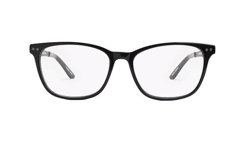 Lentes ópticos: Gianni Po 2608 Negro Remaches decorativos al frente | Varillas metálicas con Anti-Derrapante | Varilla Flex