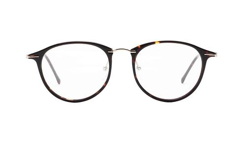 Lentes ópticos: Gianni Po 2630 Negro Líneas delgadas | Ligero | Combinación de Metal y Acetato