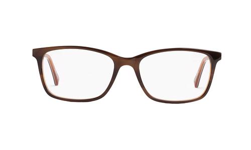 "Lentes ópticos: Gianni Po 6109 Café ""Strips"" Ligero | Líneas finas | Varilla Flex"