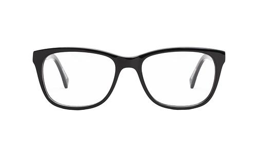 Lentes ópticos: Gianni Po 6110 Negro Marco y varillas gruesas | Varilla Flex | Detalle metálico decorativo en la varilla