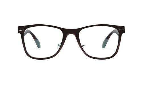Lentes ópticos: Horus 2363 Negro Hecho de Aluminio | Plaquetas de Silicón | Varilla Flex