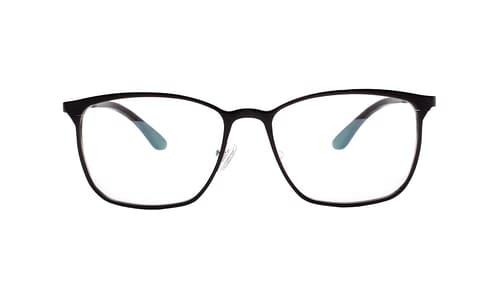 Lentes ópticos: Horus 2901 Negro Hecho de Aluminio | Plaquetas de Silicón | Varilla Flex