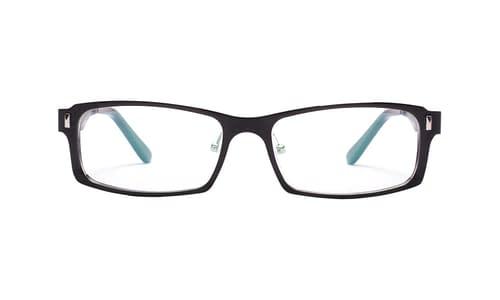 Lentes ópticos: Horus 8324 Negro Hecho de Aluminio | Plaquetas de Silicón | Varilla Flex