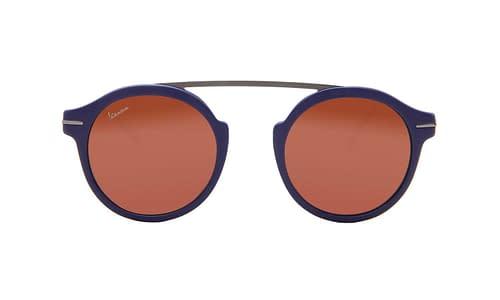 Lentes de sol: Vespa Solar 3202 Azul Edición limitada | Hecho en Italia | Puente volado | Varilla 100% metálica