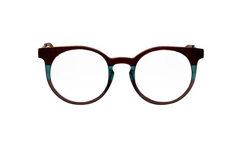 Lentes ópticos: Vespa Óptico 1201 Verde / Negro Micas con tinte degradado | Protección UV | Filtro Grado 3 | Hecho de Acetato y Metal