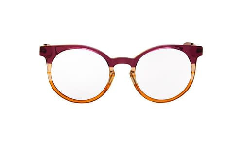 Lentes ópticos: Vespa Óptico 1201 Morado / Naranja Micas espejeadas | Protección UV | Filtro Grado 3 | Hecho de Acetato y Metal