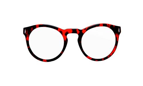 Lentes ópticos: Vespa Óptico 12RA Rojo / Negro Mica degradada Grado 3 | Armazón de Acetato | 2 Tonos en Azul
